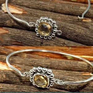 Genuine Citrine Bracelet in .925 Sterling Silver